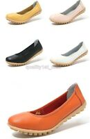 Ladies Womens Casual Oxfords Flat Shoes Leather Ballet Loafers Boat Shoes SZ:4-7