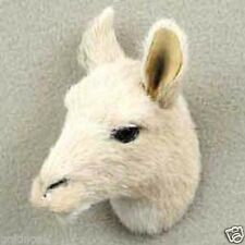 LLAMA HEAD-Fur Refrigerator Magnets (Handcrafted & Hand painted..Collectable