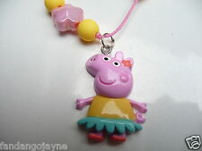 Peppa Pig beaded necklace - Costume Jewellery Necklace- ( Please visit my shop )