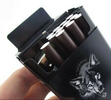 Cigarette Case, Automatic, Wolf Theme, Ideal For Soft Pack Cigarettes