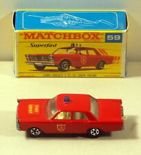 DTE MATCHBOX SUPERFAST TRANSITIONAL 59 FORD GALAXIE FIRE CHIEF CAR NIOB