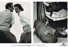 PUBLICITE ADVERTISING 094  1990  LONGCHAMP  sacs et bagages  ( 2 pages)
