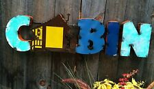 Retro Recycled Metal Sign - CABIN- Fun Details~Rustic Lodge Decor