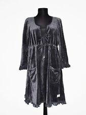 ODD MOLLY Women's Stunning Dark Blue EMBROIDERED Velvet Dress Size: 4