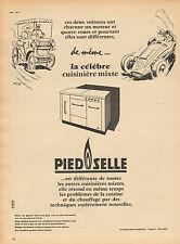 Publicité 1957  Cuisinière mixte PIED SELLE