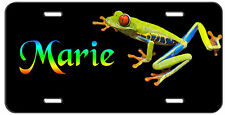 PERSONALIZED CUSTOM MONOGRAM VANITY LICENSE PLATE TREE FROG AUTO TAG