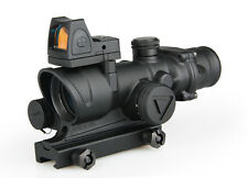 New Arrival ACOG 4x32 LED Scope With Mini Red Dot Scope For Hunting BFR-003