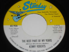 """KENNY ROBERTS VG++ The Best Part Of My Years 45 Green River 45-908 Starday 7"""""""