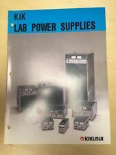 Kikusui Brochure ~ Lab Power Supply Catalog ~ PAD PAC PDM PAB POW DOM PLZ