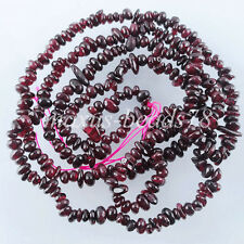 "Garnet Chips Gemstone 2~6mm Beads 30 "" Strand Bracelet or Necklace Making MG1526"