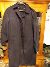 US NAVY  ISSUED BLACK DLA NO LINER WINTER WEATHER TRENCH / RAIN COAT 42 REG