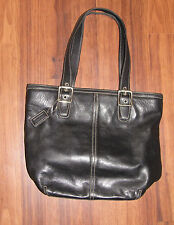 COACH #9572 BLACK HAMPTONS CLASSIC TOTE BAG PURSE