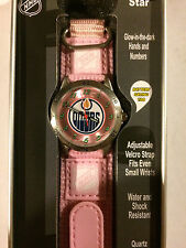 Edmonton Oilers Girls Pink Watch Future Star Series By Game Time