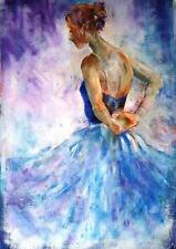 """Hermoso sera Caballero Original """"remonta"""" Ballet Danza Ballerina Pintura"""