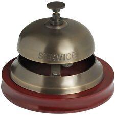 Brass Antique Finish Service Desk Bell - BNIB Shop/Hotel/Reception