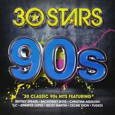 30 STARS 90S 2-CD NEW/UNPLAYED Britney Spears Whitney Houston Run DMC TLC