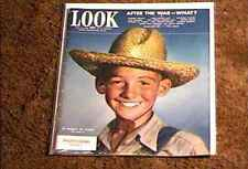 LOOK MAGAZINE 1943  MAY 18  FINE+ FILE COPY FARMER BOY WARTIME ARTICLES