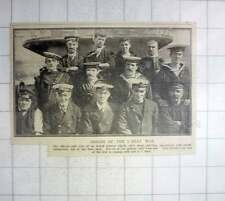 1917 Officers And Crew Of Armed Trawler Which Sank U-boat