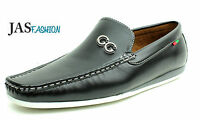 Mens Black Loafers Casual Slip On Driving Shoes Moccasins Sizes 6 7 8 9 10 11 12