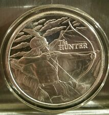 1 oz .999 silver Native American Hunter Sitting Bull Crazy Horse pow wow buffalo