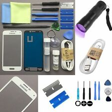 Samsung Galaxy S5 Mini Outer Glass Lens Screen Replacement Repair Kit WHITE UK