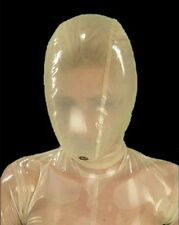87 Latex Rubber Gummi breathing Mask Hood customized catsuit clubwear 0.7mm cool