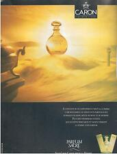 ▬► PUBLICITE ADVERTISING AD Parfum Perfume CARON Parfum sacré femme