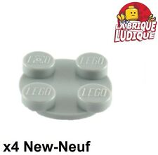 Lego - 4x turnable plaque tournante 2x2 gris/light bluish gray 3679 3680 NEUF