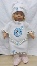 "New baby girl doll outfit clothes Orlaf snowman Frozen smoby tall  23"" 24"" 25"""
