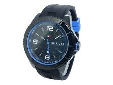New Men's Black Tommy Hilfiger Ash Silicone Band Watch 1791017 NO BOX OR PAPERS