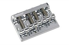 "NEW - Gotoh 201B-4 Bass Bridge, 2-1/4"" Spacing, CHROME"