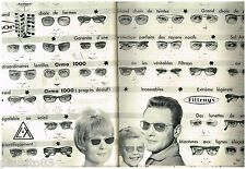 PUBLICITE ADVERTISING 095  1961  SOL-AMOR  lunettes r(2 pages)