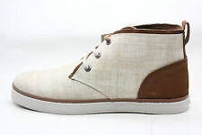 Marc New York Mens Eldridge Canvas Chukka Boot Khaki Cinnamon White Size 11