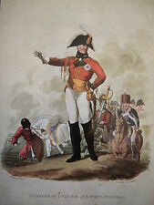 MILITARY POSTCARD FULL-DRESS UNIFORM OF A FIELD MARSHAL 1812 BY C HAMILTON SMITH