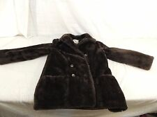 White Stag Women's Faux Fur Coat Glenoit Fabric Brown See Measurements 50122