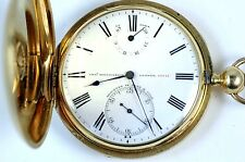 RARE Large SAN FRANCISCO Pocket Watch 18K CALIFORNIA GOLD RUSH CASE 1860s