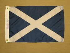 "St. Andrews Cross Scotland Indoor Outdoor Dyed Nylon Boat Flag Grommets 12""X18"""
