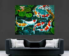 KOI CARP FISHING POSTER WATER POND SPORT PICTURE LARGE GIANT ART PRINT