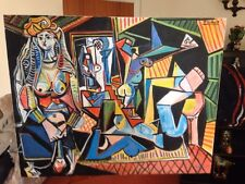"NEW DAVID ALDUS ORIGINAL ""Les Femmes D'Algers"" Version O After Picasso PAINTING"