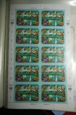 UN / Geneva office- 1991 Animals - Mi. 194-97 Full sheet MNH