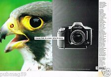 Publicité advertising 1986 (2 pages) Appareil photo Canon T90 ... Aigle