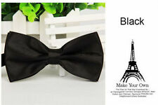 Mens Silk Satin plain Tuxedo Solid Bow Tie Formal Wedding  Bowtie Necktie