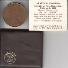 ISRAEL 1977 2nd ARTUR RUBINSTEIN PIANO COMPETITION by PICASSO 35mm BRONZE + COA
