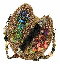 Mary Frances Bags Winter 2013 Gold Painters Palette Beaded Purse Handbag NEW