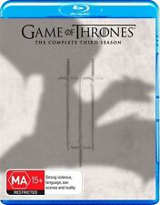 Game Of Thrones : Season 3 (Blu-ray, 2014, 5-Disc Set) INCLUDE BONUS FEATURES