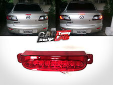 RED LED 3rd THIRD BRAKE STOP Light Lamp Fits 2004-2008 Mazda 3 Axela 4D SEDAN