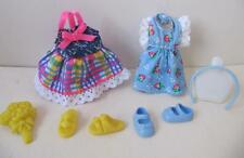 Barbie KELLY SHELLY CLUB playtime CLOTHES Strawberry/Plaid Summer Dress/Shoe set