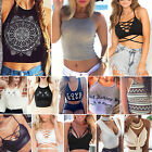 Fashion Summer Women Casual Tank Tops Vest Blouse Sleeveless Crop Tops Tee Shirt
