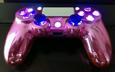 PS4 Custom RapidFire Mod Controller-Pink n' Purple Candy w/LED +2 ReMap Buttons