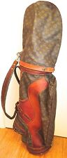 EXCEEDINGLY RARE LOIUS VUITTON c1970'S UNISEX GOLF BAG & 3 CLUB HEADCOVERS